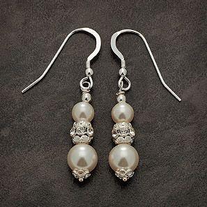 Bridal earings.  Handmade by Scruffy Fairy