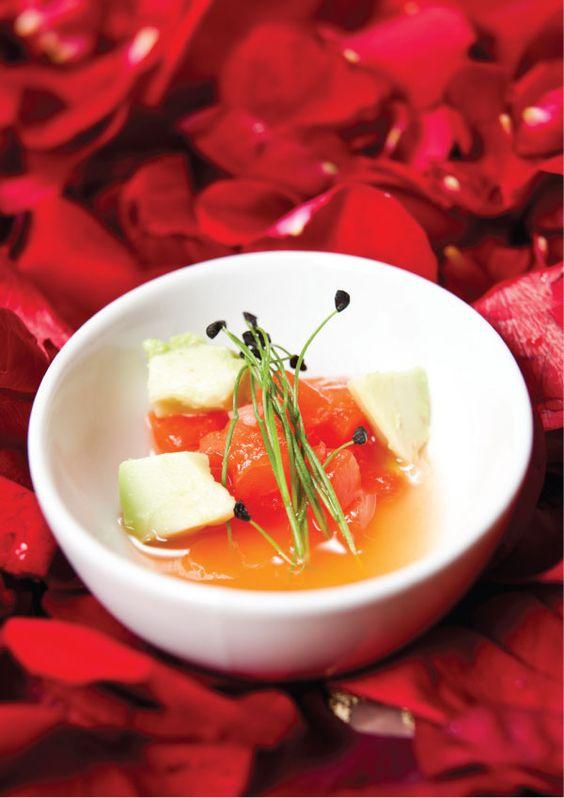 """Habanero-Infused  Watermelon """"Gazpacho"""""""