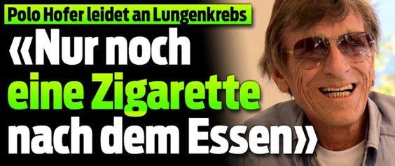 Polo Hofer leidet an Lungenkrebs !! 28-Aug-2016