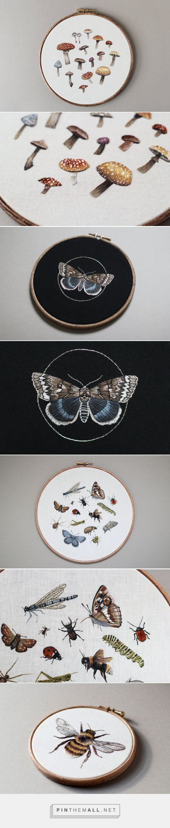 Embroidered Mushrooms, Animals, and Other Forest Creatures by Emillie Ferris | Colossal