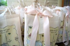 From the Pros: What to Include in Wedding Welcome Bags on Borrowed & Blue.  Photo Credit: Marigold & Grey