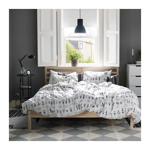 Tarva Bedframe Grenen Leirsund 140x200 Cm Bed Frame Ikea Bed Ikea Bedroom