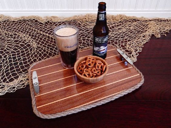 A personal favorite from my Etsy shop https://www.etsy.com/listing/482548849/wood-serving-tray-beverage-tray-cabin