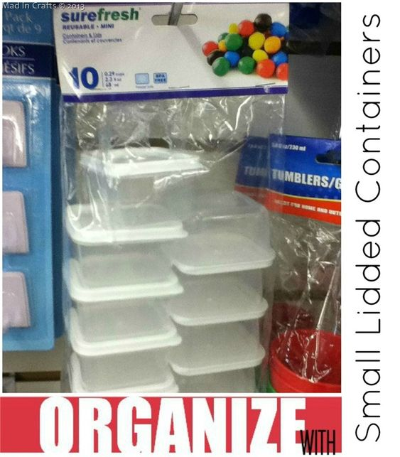 Organizing With Dollar Store Items: Dollar-Store-Mini-Container.jpg (image)