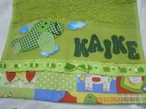 toalha de mão em patchcolagem