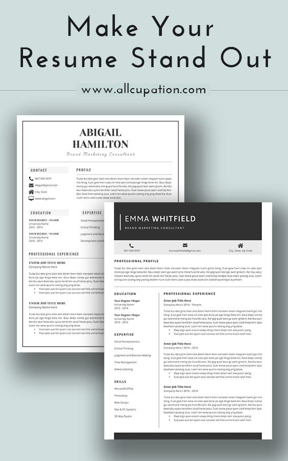Make your resume stand out Visit wwwallcupation for more - what does a good resume look like