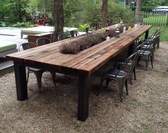 Stunning 35 Diy Outdoor Furniture You Can Put In Garden Https Homimu Com 2019 04 06 3 Rustic Outdoor Dining Tables Outdoor Patio Table Outdoor Wood Furniture