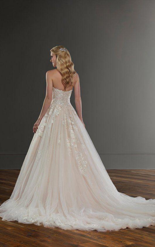 Modern Ballgown Wedding Dress With 3d Flowers Martina Liana