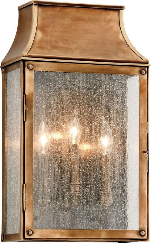 Troy Lighting B3423 Beacon Hill 3 Light Outdoor Wall Sconce With Seedy Glass Heirloom Brass Outdoor Lighting Wall Sconces Outdoor Wall Sconces Sconces