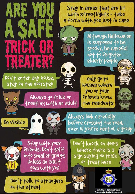 Are you a safe Trick or Treater? kids rules halloween trick or treat safety: