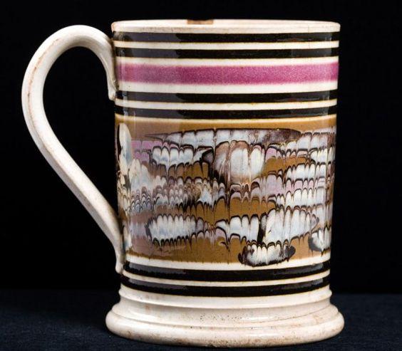 Mochaware Slip-Banded Mug