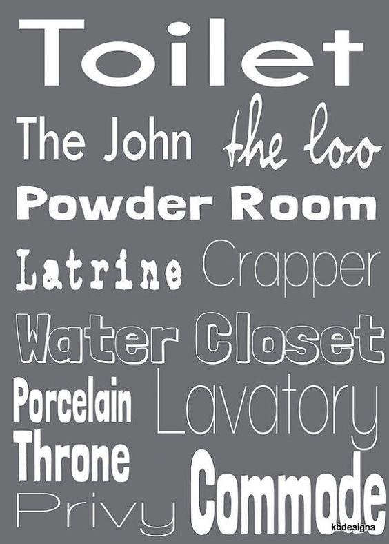 toilet word art for bathroom decor. toilet word art for bathroom decor   gift ideas    Pinterest