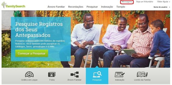 "Novo recurso ""Mensagens"" na Árvore Familiar do FamilySearch. http://bit.ly/1LpyaHl ‪#‎EncontreLeveEnsine‬ ‪#‎familysearch‬"