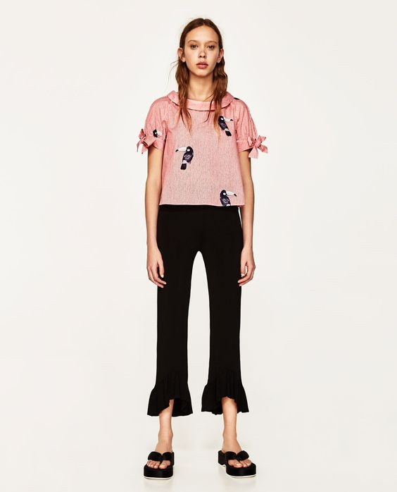 ZARA - WOMAN - STRIPED TOP WITH PRINT