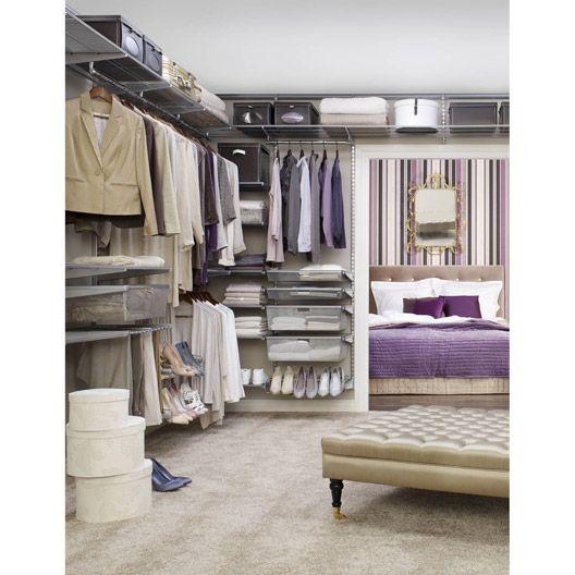 am nagement m tallique elfa coloris platinium design pinterest frances o 39 connor dressing. Black Bedroom Furniture Sets. Home Design Ideas