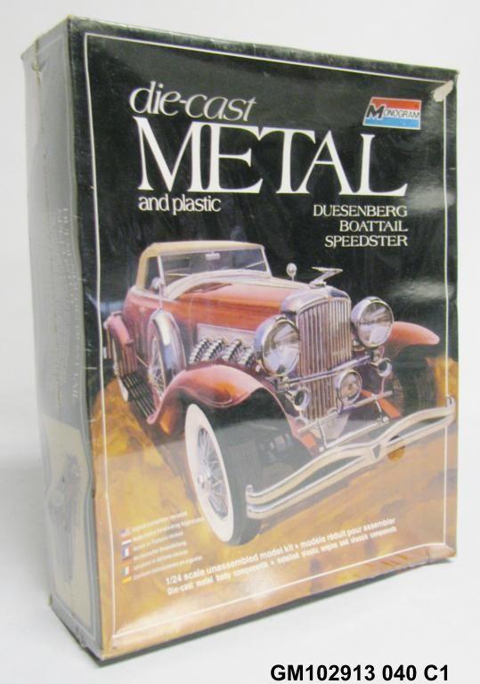 Vintage Monogram Duesenberg Boattail Speedster Metal Model Car Kit