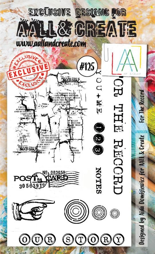 Aall Create Clear Stamp Set 125 A6 For The Record Clear Stamps Stamp Stamp Set
