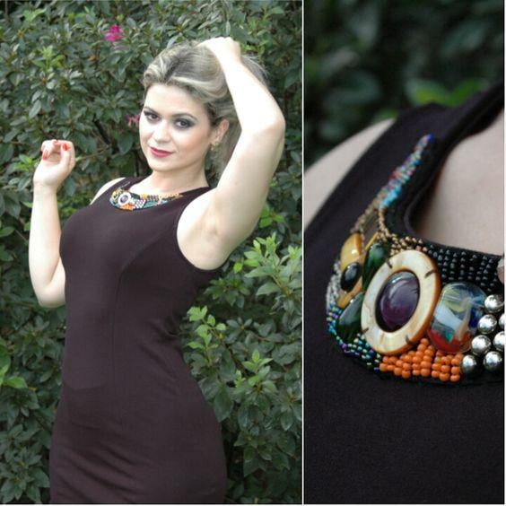 Vestido com colar: R$ 149,90 se encontra na CACAU ☆  Rua 18, No 480, Setor Oeste ☆ (62) 3215-9668 - curta mais : www.zzgoiania.com