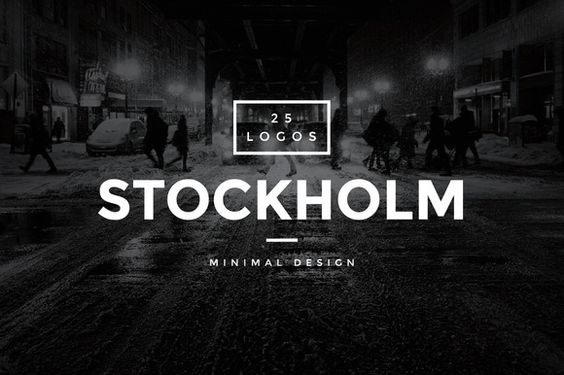Stockholm - 25 Modern Vintage Logos by Worn Out Media Co. on @creativemarket