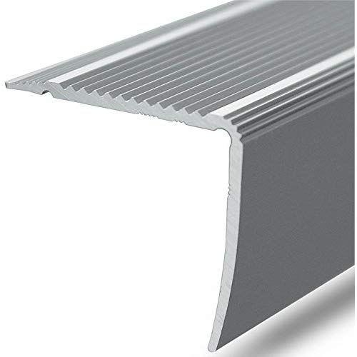 Alu Stufenkantenprofil Integral L Form Selbstklebendes Treppen Profil Breite 30 Mm Eloxiert Silber 90 Cm Design Bodenbelag Bodenbelag Neue Hauser