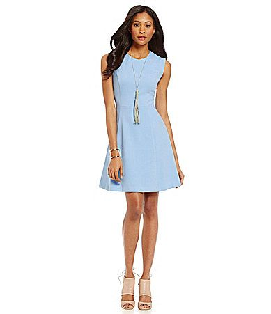 Vince Camuto Crepe FitandFlare Dress #Dillards