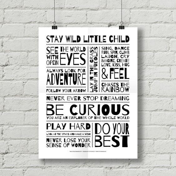 To The Wild es el niño que todos fuimos. Son las inagotables ganas de explorar. Es mirar el mundo con nuevos ojos cada vez. Es ponerte una manta sobre los hombros y convertirte en superhéroe... To The Wild es volver a contemplar el mundo a través de la mirada del niño que un día fuiste...Sabemos que hay muchas cosas importantísimas en la vida de un niño que a veces a los adultos se nos olvidan. Y por eso y haciendo honor a nuestra filosofía, hemos querido reunir en este ...