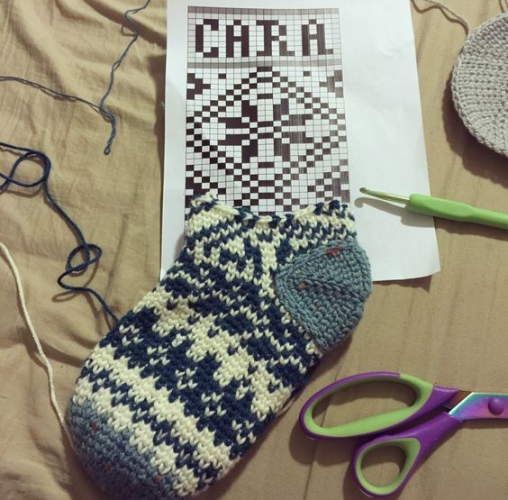 17 Best images about Fair Isle Crochet on Pinterest | Free pattern ...