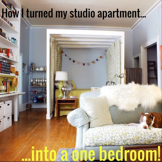 how i turned my studio apartment into a one bedroom the