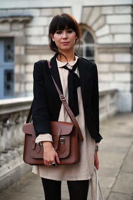 blazer, neck scarf, and peter pan collar.: