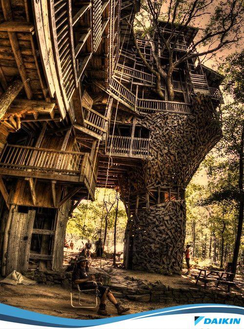 Casa na árvore!  #DaikinValoriza #DaikinInova