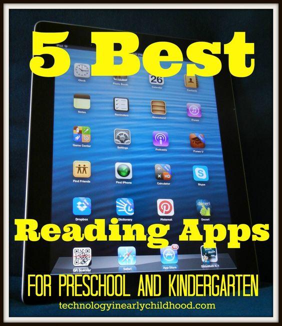 Five Best Reading Apps for PreK and Kindergarten