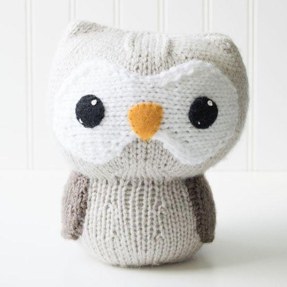 Amigurumi Knit Owl Pattern : Knit Amigurumi Owl Pattern, 8 inch Owl patterns ...