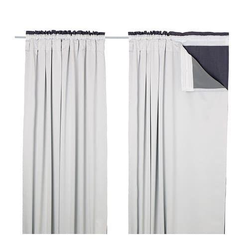 Glansnava Curtain Liners 1 Pair Light Gray 56x94 Ikea