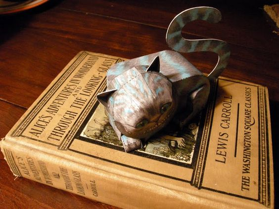 paper-toy cheshire cat