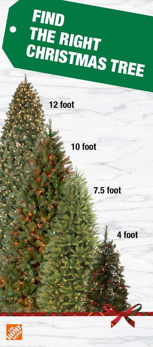Find The Right Sized Tree For Your Home This Christmas Artificial Trees Come In Heights Fro Holiday Decor Christmas 10ft Christmas Tree Classic Christmas Tree