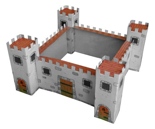 How to make a cardboard castle step by step for Castle made out of cardboard