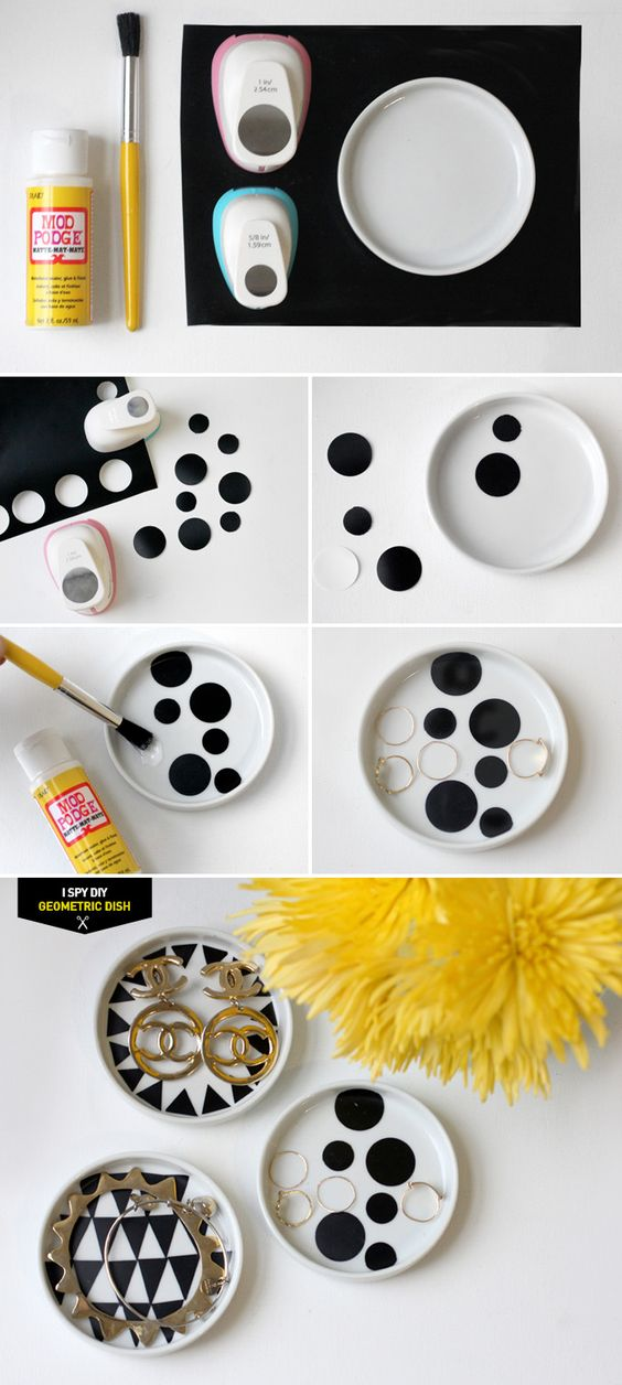 MY DIY | Geometric Jewelry Dish | I SPY DIY | **Craft ideas ...