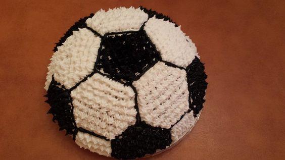 black and white soccer cake