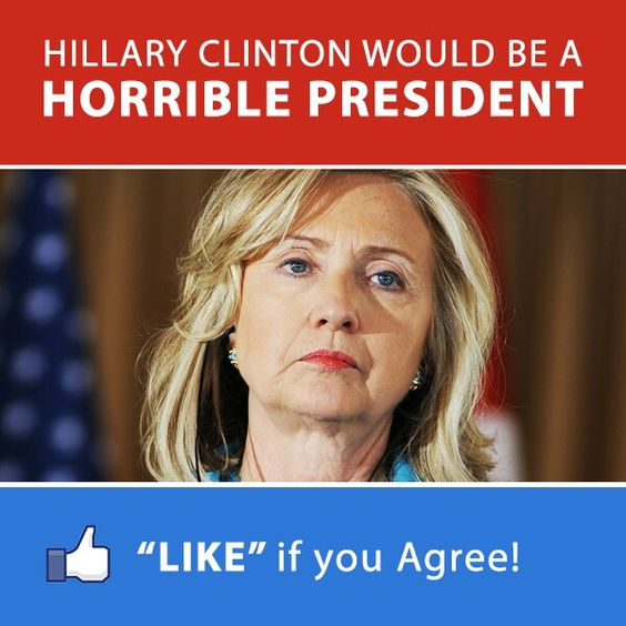 Hell Yes! White Water,  Vince Foster, Benghazi... Do I Need To Say More!? Wake Up America!  KILLARY has WAY too much baggage…not to mention her actions as Secretary of State.  APPALLING.