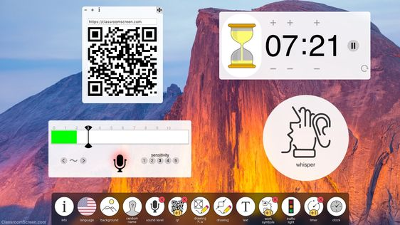 Quickly get a timer, textbox, noise meter, drawing tool, name picker, work symbols and more. Completely free.