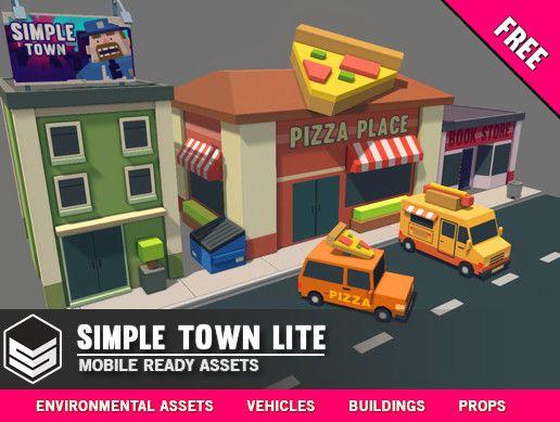 Simple Town Lite Cartoon Assets Cartoon Unity Games Simple