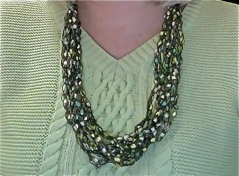 My necklace from WrappedNTwists blends with so many different shades. Check out more at etsy.com/shop/rlittleton.
