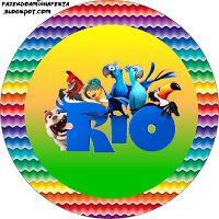 """Imprimés Thème """"Rio"""" : http://fazendoanossafesta.com.br/2014/04/romero-britto.html/"""