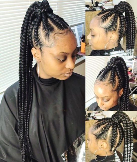 39 Crazy Braided Ponytail Hairstyles Curly Craze Braided Ponytail Natural Hair Styles Ponytail Hairstyles