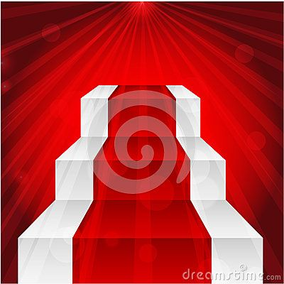 Stage with red carpet by Natashapetrova, via Dreamstime