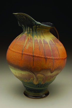 Steven Hill (gas kiln reduction)  I love the coloring on this