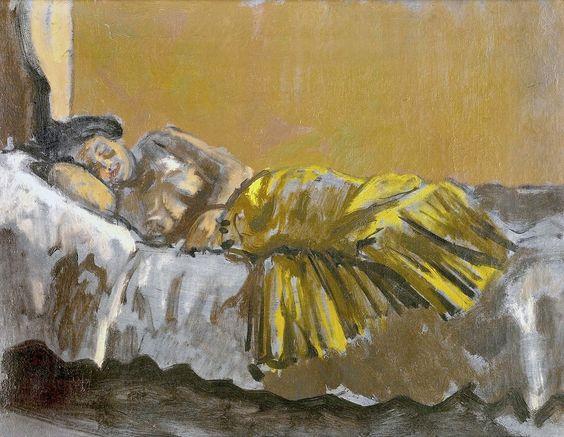 bofransson:  Walter Richard Sickert, A.R.A. 1860 - 1942 The Yellow Skirt