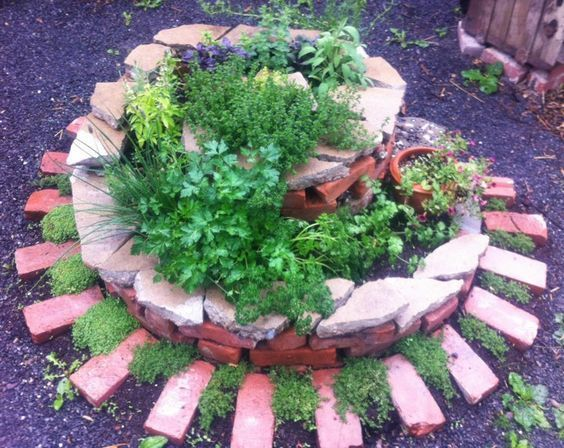 How To Plant Spiral Herbal Gardens Correctly List With Suitable Plants And Planting Plans Spiral Garden Herb Spiral Planting Plan