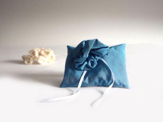 Wedding Pillow for Ring Bearer  wedding by lalunadianna on Etsy