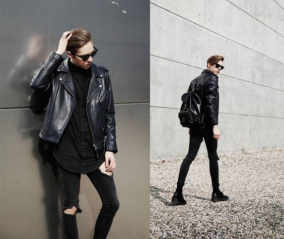 Mikko Puttonen - H&M Jacket, Odeur Shirt, Onar Bag, Jeans, Ash Footwear Shoes - BASIC